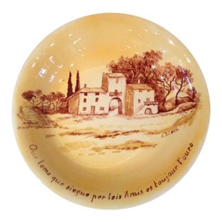 Varages France Pasta Bowl Hand Painted, 1920s