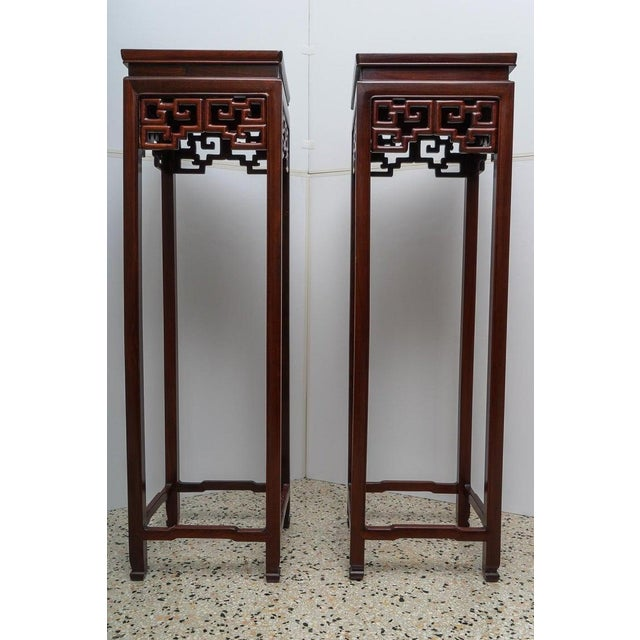 Chinese Rosewood Pedestals For Sale In West Palm - Image 6 of 13
