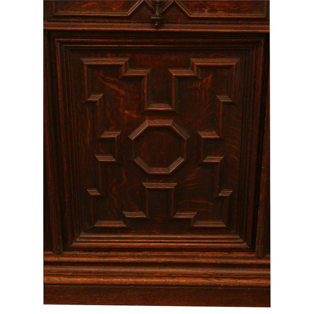 Antique French Hunt-Style Bookcase & Buffet - Image 7 of 8