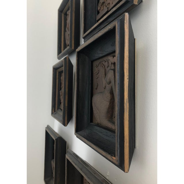 1940s Bronze Wpa Plaques - Set of 6 For Sale - Image 9 of 12