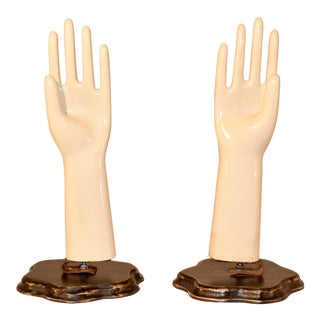 Pair of Porcelain Glove Molds For Sale