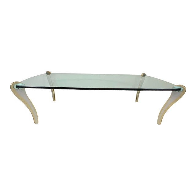 Postmodern Metal & Glass Studio Made Coffee Table by Peter Handler For Sale