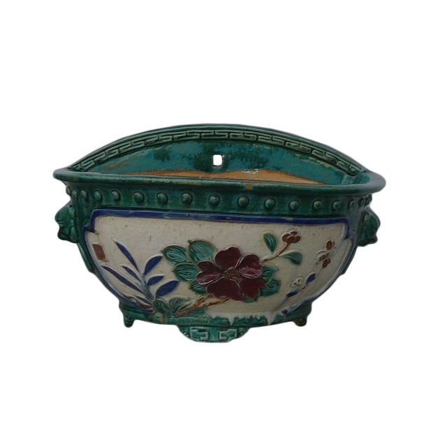 Chinese Ceramic Dimensional Flower Wall Planter For Sale