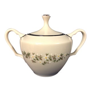 1900s Traditional Lenox Brookdale China Sugar Bowl For Sale