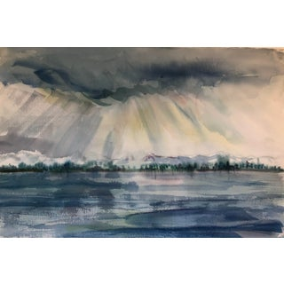 Ethereal Landscape Watercolor 1960s For Sale