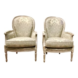 Pair of French Style Traditional Currey and Co. Dubarry Chairs For Sale