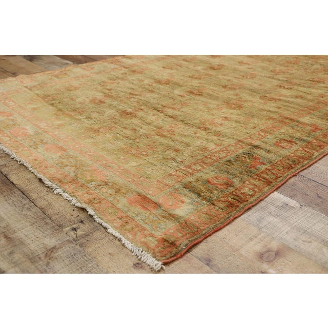 Textile Antique Persian Mahal Long Persian Carpet Runner - 03'09 X 28'04 For Sale - Image 7 of 10