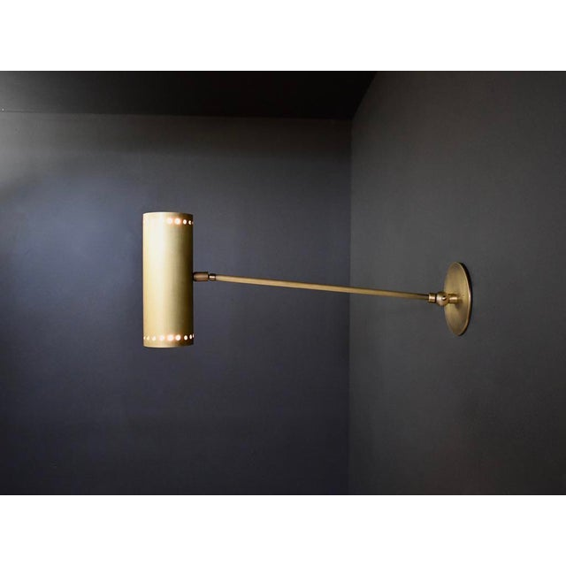 Mid-Century Modern Cannula Modern Bronze Wall Lamp or Sconce by Blueprint Lighting For Sale - Image 3 of 9
