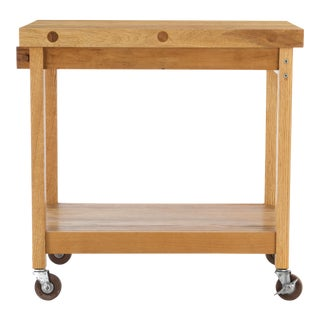 Bill Saunders Chopping Block Utility Cart For Sale