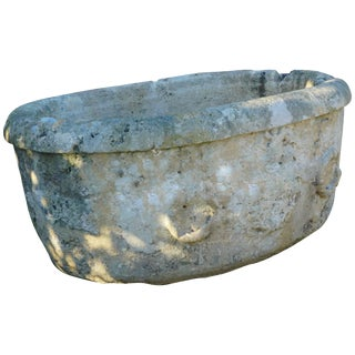 Early 18th Century Italian Stone Tough Basin For Sale