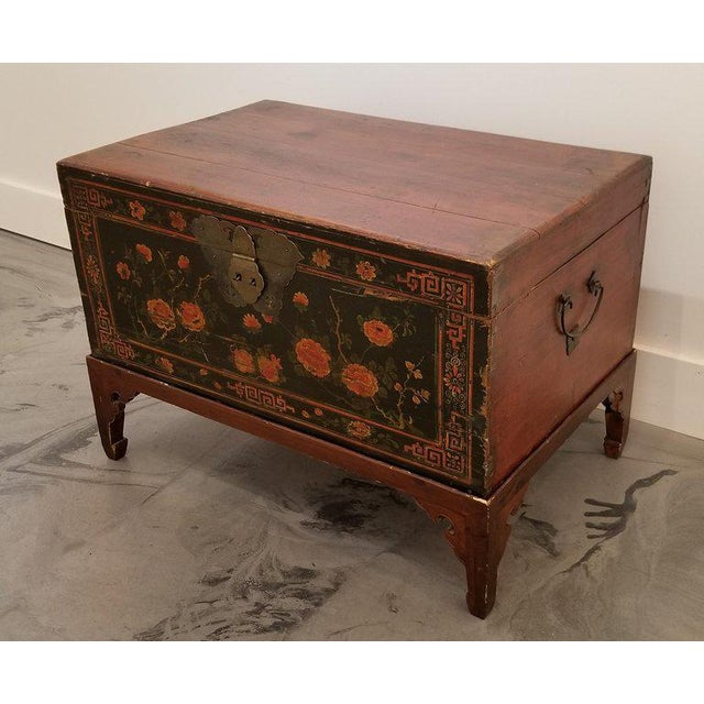 Early 20th Century Chinese Trunk on Stand For Sale - Image 5 of 13