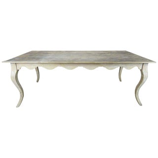 French Farm Painted Dining Table, Circa 1930s For Sale