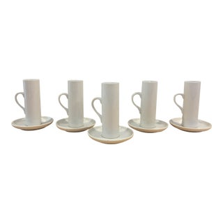 Lagardo Tackett Demitasse Porcelain Espresso Cups - Set of 6 For Sale