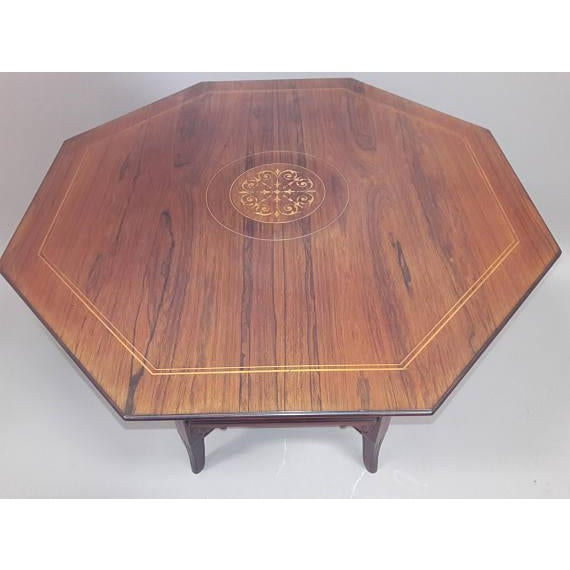 English Inlaid Rosewood Table A - Image 6 of 9