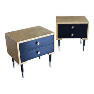 Pair of Cork Nightstands by Paul Frankl for Johnson Furniture Co. Circa 1950 For Sale