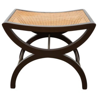 Mid-Century Modern Mahogany Stool by Edward Wormley for Dunbar For Sale