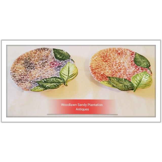 Isabella De Borchgrove Italian Flower Plates - A Pair - Image 2 of 10