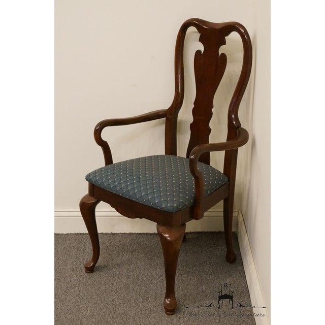 Traditional Late 20th Century Vintage Thomasville Furniture Collectors Cherry Arm Chair For Sale - Image 3 of 13