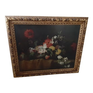 Early 20th Century Floral Still Life Oil Painting, Framed For Sale
