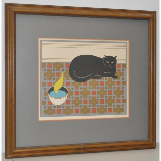 "Will Barnet ""Cat and Canary"" Pencil Signed Lithograph C.1970s For Sale - Image 10 of 10"