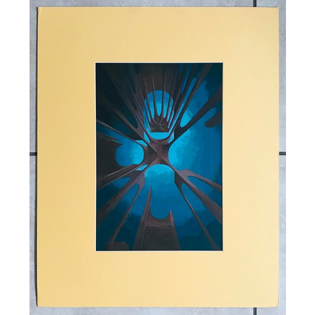 Artist - Unknown Title - Futuristic Study Signed - Unsigned Year - 1970s Medium - Acrylic on board Frame - Unframed but...