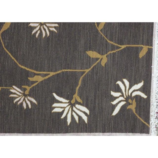 Islamic Soumak Design Hand Woven Wool Rug - 8' X 10' For Sale - Image 3 of 5
