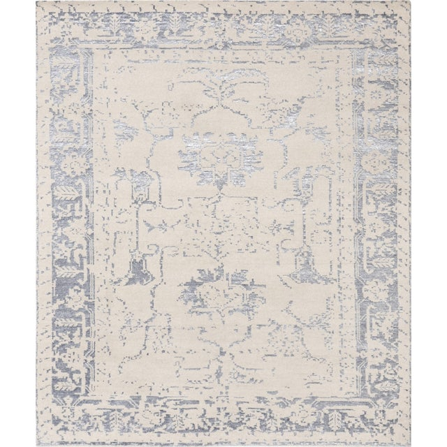 Pasargad Silk Fusion Silk & Wool Rug - 4′ × 6′ - Image 1 of 5