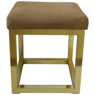 Modern Brass Bench or Stool in the Style of Paul Evans, Ca. 1970s For Sale