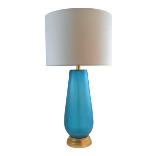 Bungalow 5 Prague Lamp Blue With Shade For Sale