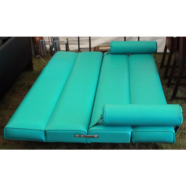 Martin Borenstein Turquoise Daybed Sofa Mid Century Modern C.1960's For Sale - Image 10 of 10