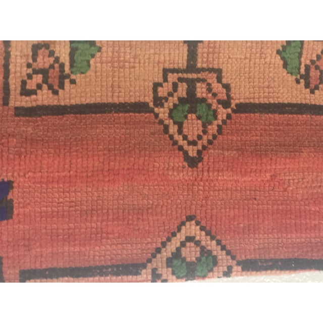 Vintage Moroccan Stuffed Wool Pillow - Image 3 of 9
