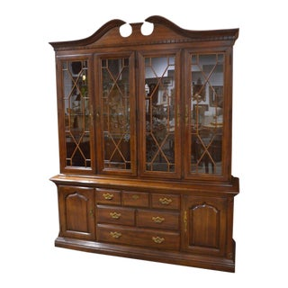 Large Thomasville Traditional Style China Cabinet - 2 Pc.