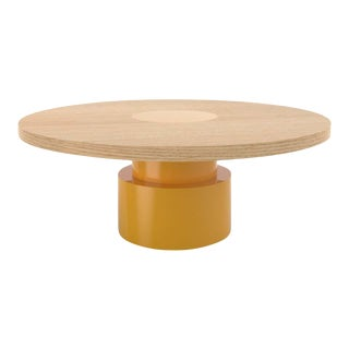 Contemporary 100C Coffee Table in Oak and Yellow by Orphan Work, 2020 For Sale