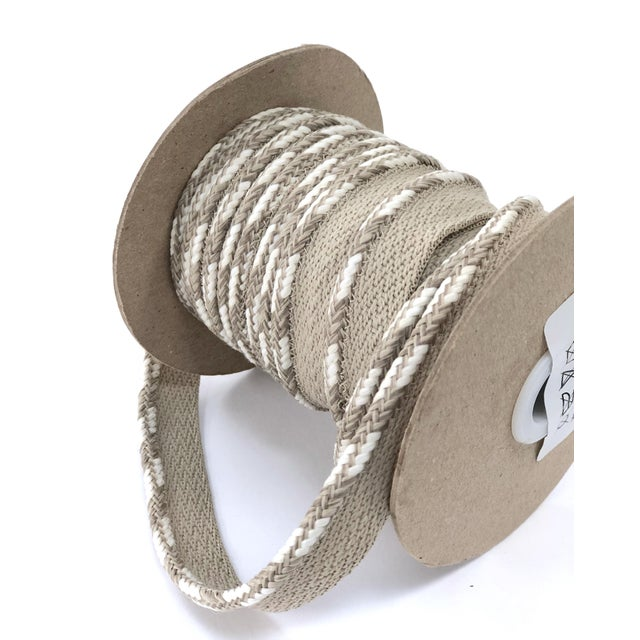 """Braided 1/4"""" Indoor-Outdoor Cord in Sand-White For Sale - Image 4 of 10"""