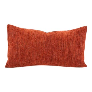 """Pindler Omega in Sienna Lumbar Pillow Cover - 11"""" X 20"""" Solid Textured Chenille Rectangle Cushion Case For Sale"""