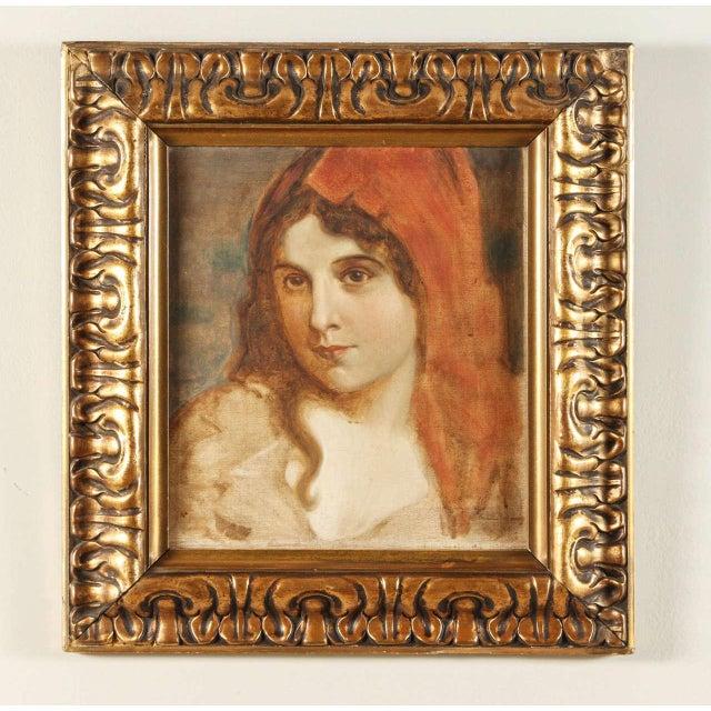 Antique Oil Portrait of a Woman - Image 2 of 6