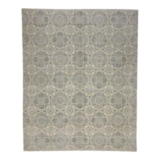 Modern Gray Rug with Transitional Style