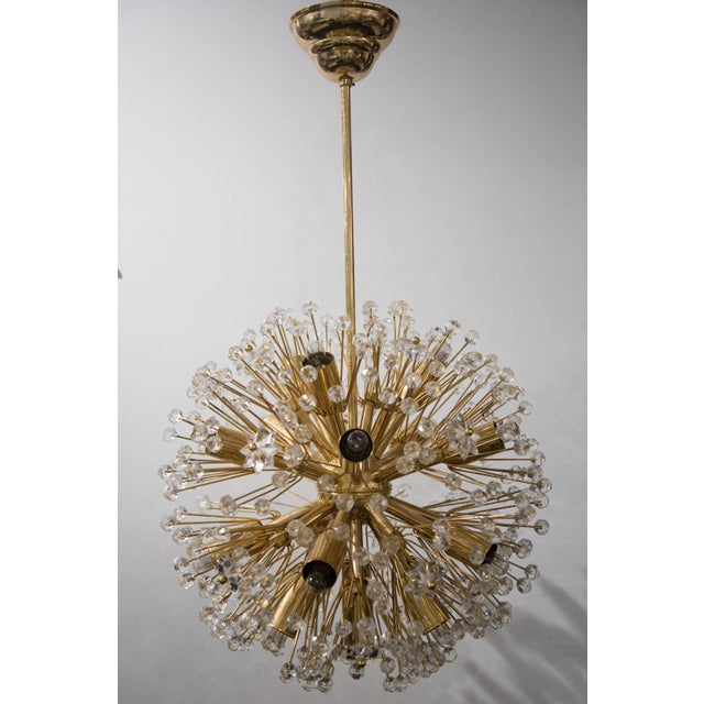 """Snowflake"" Crystal Chandelier by Emil Stejnar For Sale - Image 11 of 11"