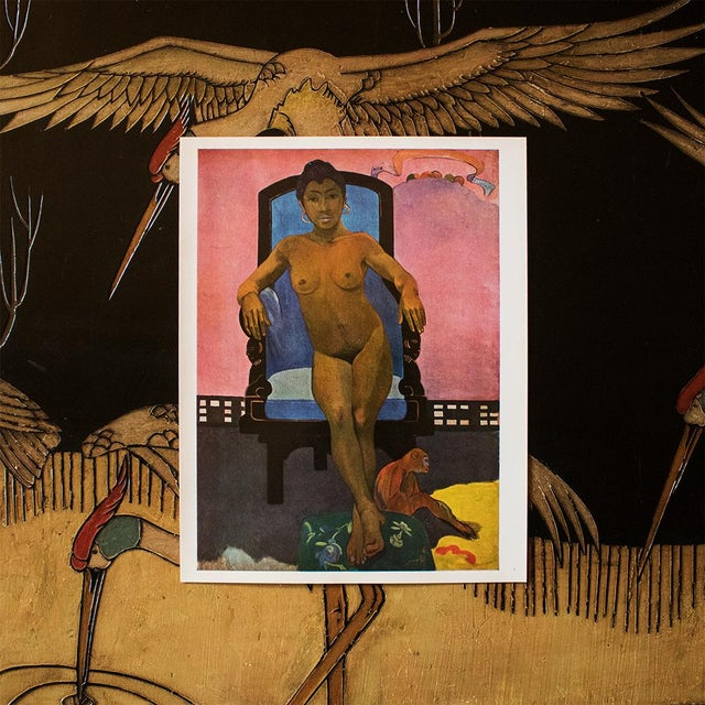 Modern 1940s Paul Gauguin, Annah the Javanese With a Monkey Original Swiss Lithograph For Sale - Image 3 of 6
