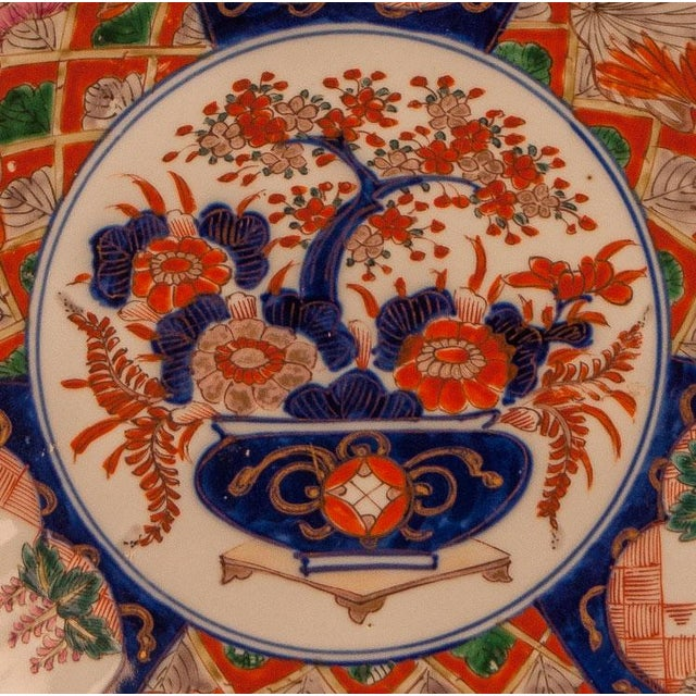 A late 19th Century classic Japanese Imari scalloped plater, circa 1880