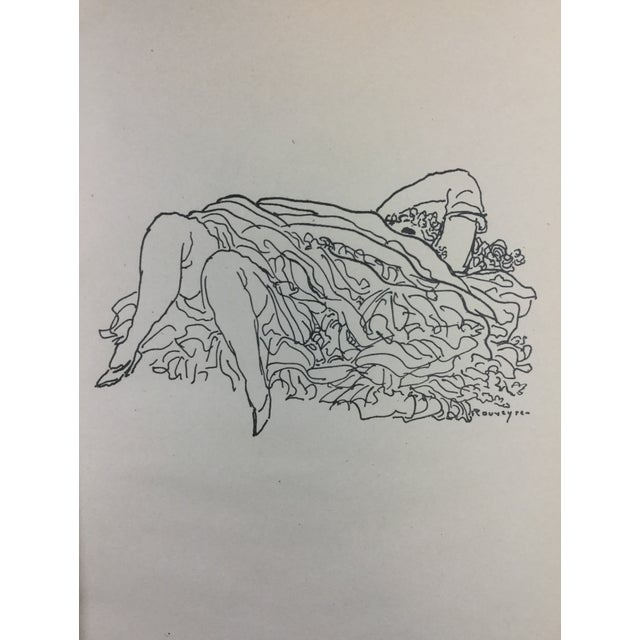 Paper 1923 Parisiennes Drawing Print by Remy De Gourmont & André Rouveyre For Sale - Image 7 of 12