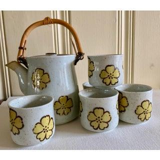 Midcentury Japanese Tea or Saki Set of Six Preview