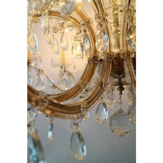 Circa 1900 Austrian Maria Theresa 18 Lite Chandelier For Sale - Image 4 of 6