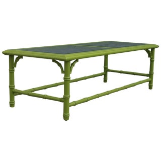 Vintage Apple Green Palm Beach Style Coffee Table