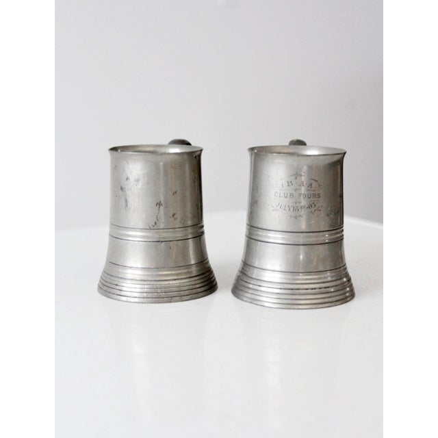 Antique Pewter Glass Bottom Tankards - a Pair For Sale - Image 6 of 13