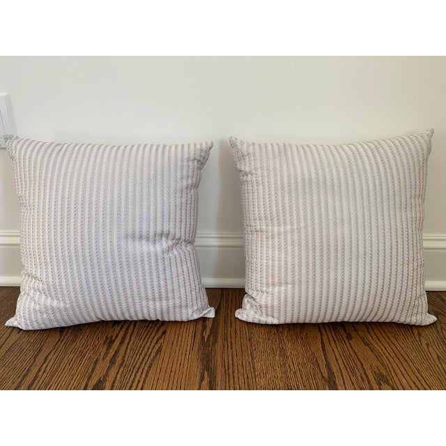 2020s Frette Throw Pillows - a Pair For Sale - Image 5 of 5