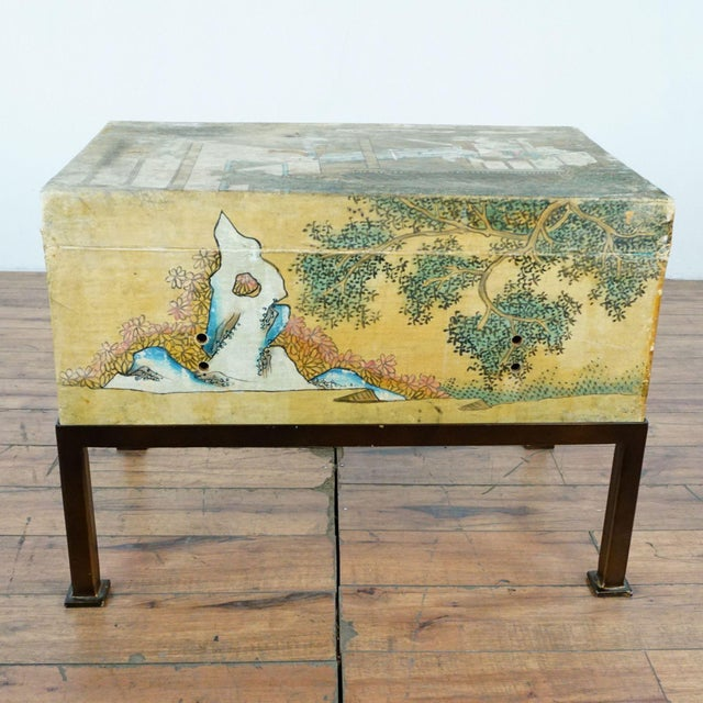 Antique Chinese Leather Trunk For Sale In San Francisco - Image 6 of 12