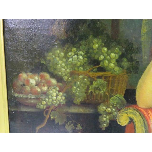 19th C. Painting Portrait of Lady & Gentlemen - Image 6 of 11