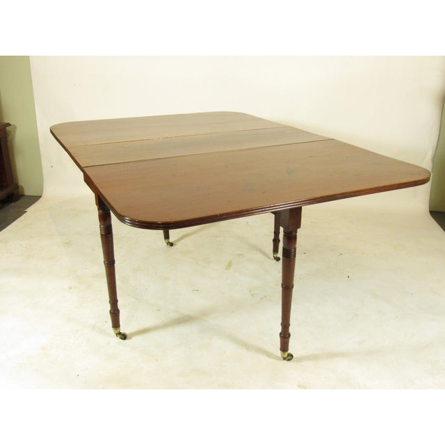 19th Century Regency Drop Leaf Mahogany Table For Sale - Image 10 of 12