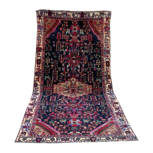 """Midnight in the Garden Persian Rug - 4'7"""" x 10'8"""" - Image 1 of 7"""